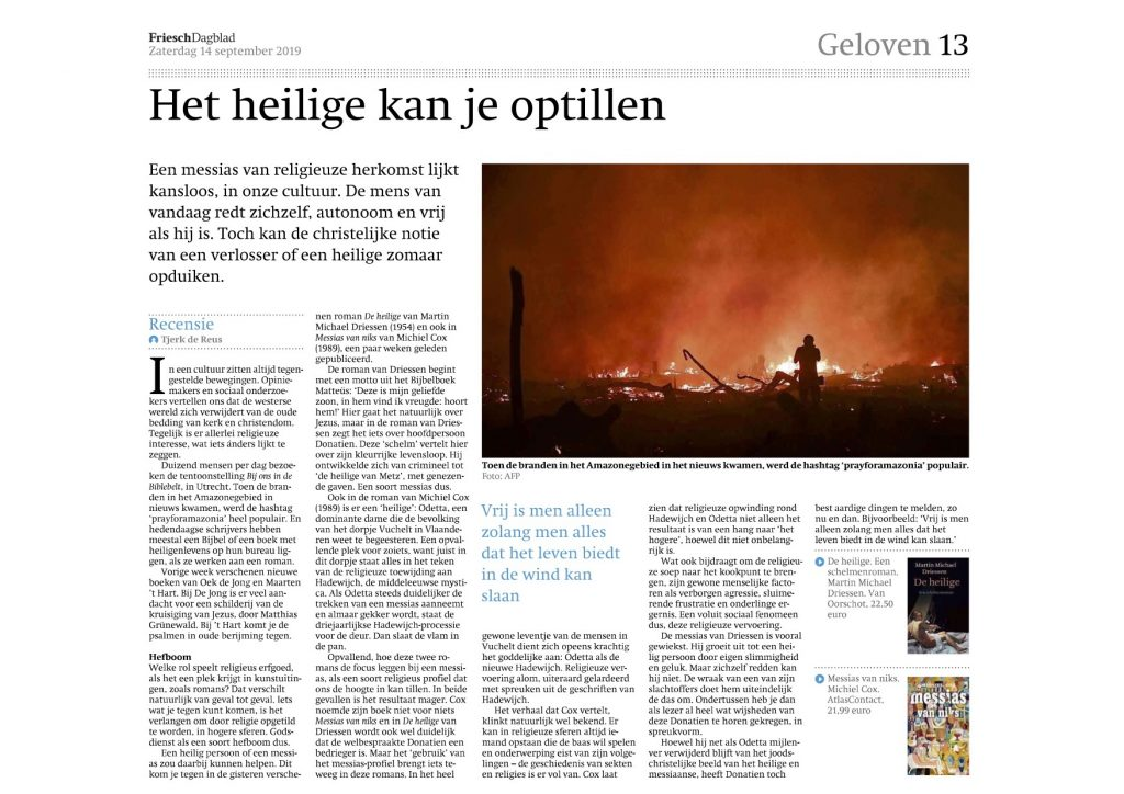 Michiel Cox Friesch Dagblad